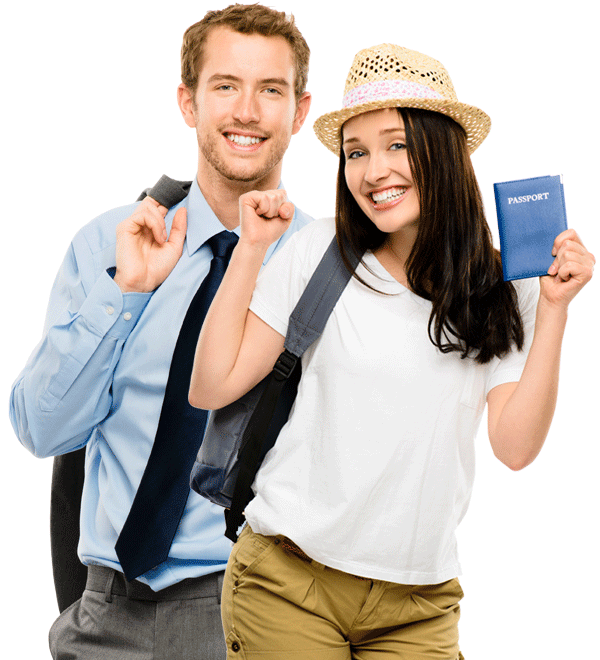 air charter services - couple with passport